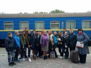Від'їзд делегації учнів Луганської області до Литви